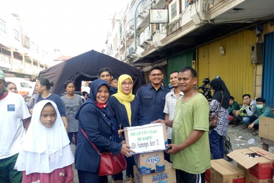Siswa SD korban kebakaran Kampung Bandan sudah kembali bersekolah