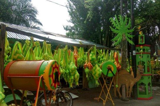 Penjual hiasan Lebaran mulai bermunculan di Medan