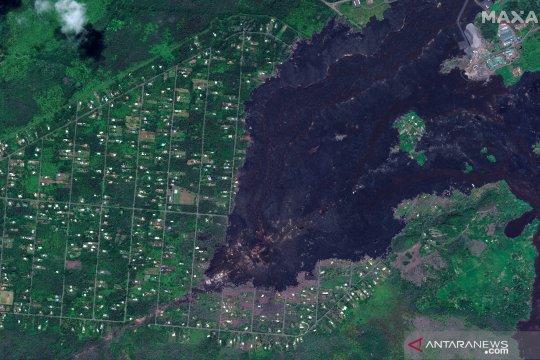 Setahun pascaletusan gunung berapi di Hawaii