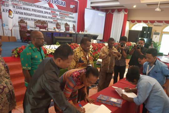 Jokowi unggul 508.997 suara di Papua Barat.