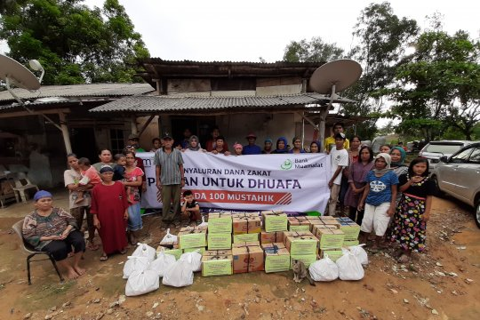 Bank Muamalat Tanjungpinang salurkan dana zakat pangan dhuafa
