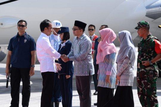 Presiden Jokowi tinjau Kawasan Ekonomi Khusus Mandalika di Lombok
