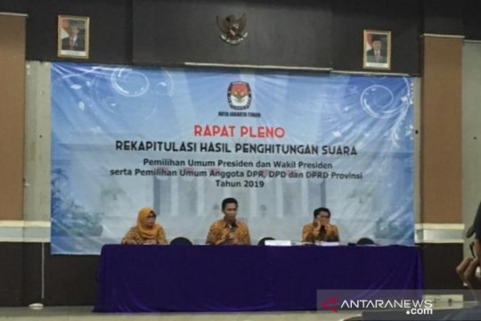 KPU Jakarta Timur tuntaskan rekapitulasi penghitungan suara pemilu