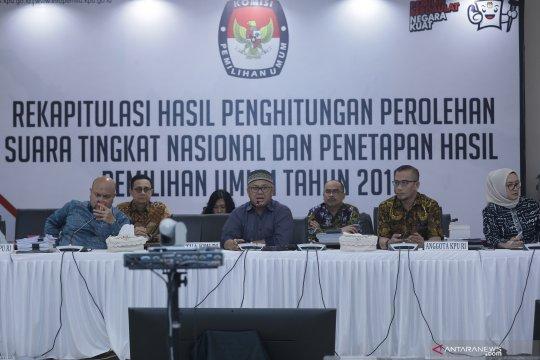 Rapat pleno rekapitulasi nasional KPU