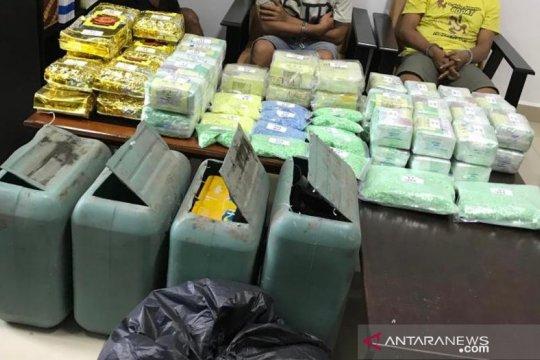 BNN gagalkan penyelundupan narkoba yang disimpan dalam jeriken