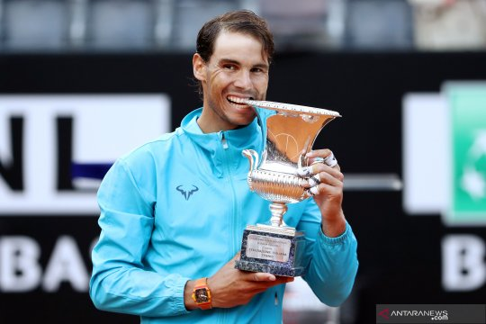 Nadal hentikan Novak Djokovic untuk juarai Italia Open