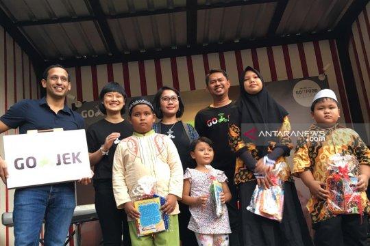 Gojek buka puasa bersama 10.000 mitra dan anak yatim
