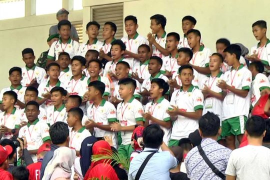 Timnas Pelajar U-15 bersiap hadapi kejuaraan di Portugal