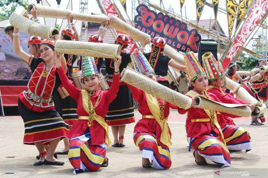 Dewan adat kumpul di Pekan Gawai Dayak di Pontianak