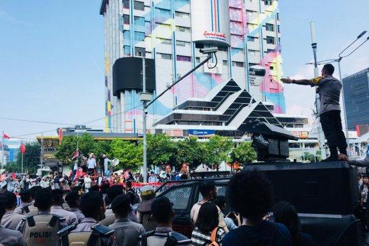 Unjuk rasa tuntut usut kecurangan pemilu di Bawaslu RI sempat memanas