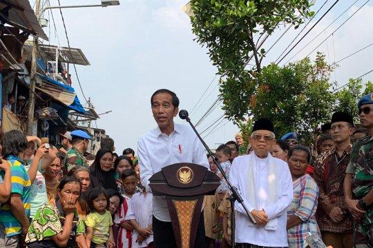 Jokowi umumkan kemenangan wujudkan amanah melalui pemerataan program