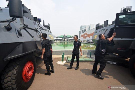 Polisi juga perketat pengamanan gedung Parlemen