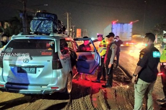 Polres Mesuji razia kendaraan antisipasi pergerakan massa ke Jakarta