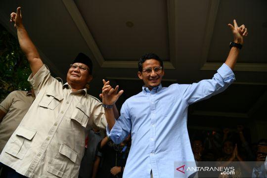 Prabowo - Sandi tolak hasil penghitungan KPU