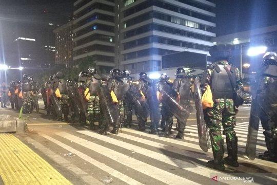 Polisi rekayasa arus lalu lintas di Jalan MH Thamrin