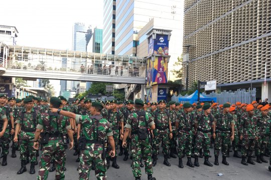 TNI tempatkan 300 personel ke Gedung Bawaslu RI