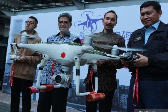 Pelatihan menerbangkan drone untuk jurnalis