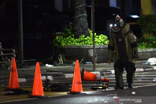 Gegana amankan benda mencurigakan di Jalan MH Thamrin