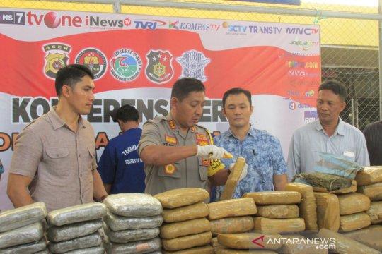 Polisi gagalkan pengiriman 1.010 kilogram ganja ke Jakarta