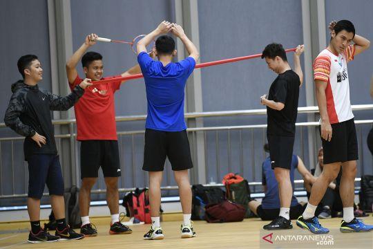 Latihan tim Piala Sudirman Indonesia jelang lawan Taiwan