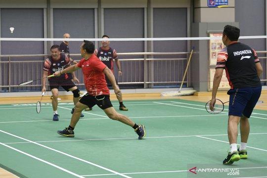 Latihan Indonesia jelang lawan Taiwan