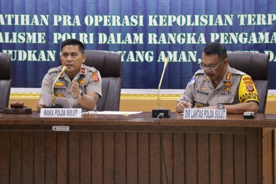 Polda Sulut gelar Latpraops mantapkan pengamanan Idul Fitri