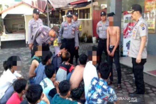Polsek Banjarmasin Timur ciduk puluhan anak mabuk lem