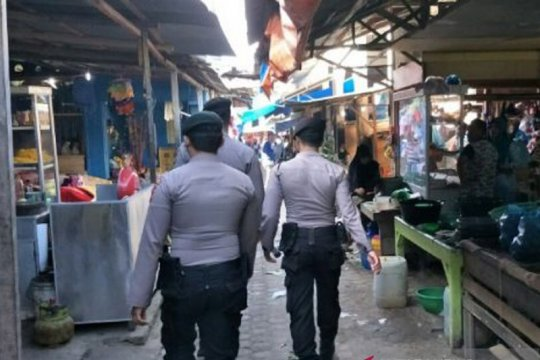 Jelang Lebaran Polisi tingkatkan pengamanan pasar dan ATM