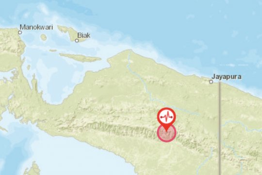 Gempa bumi Yahukimo Papua tidak berpotensi tsunami