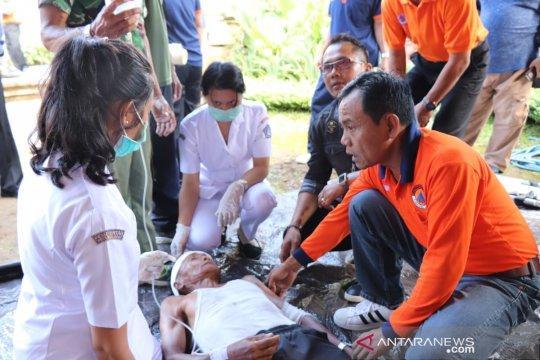 Masyarakat desa di Badung ikuti simulasi kebencanaan