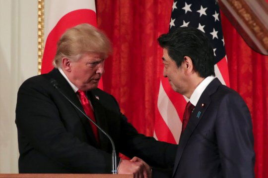 Trump akan bicarakan perdagangan, pertahanan dengan PM Jepang