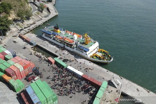 400 penumpang berangkat mudik dari Pelabuhan Gorontalo