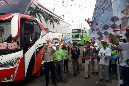 Mudik bareng gratis digelar Jasa Raharja dari terminal Rajabasa