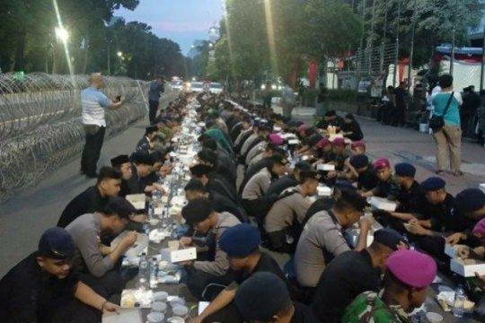 Ormas Pencak Silat NU beri dukungan TNI-Polri melalui buka bersama