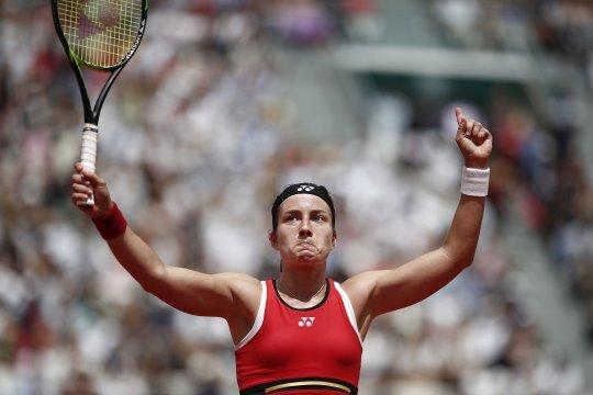 Tenis Perancis Terbuka: Petenis Latvia Anastasija Sevastova kalahkan Elise Merten