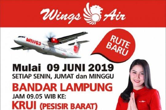 Mulai 9 Juni 2019 Wings Air layani penerbangan Bandarlampung-Krui