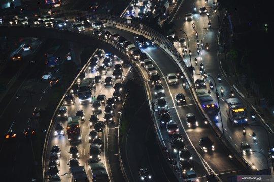 Arus mudik tol dalam kota Jakarta