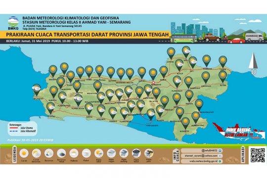 BMKG: Cuaca jalur selatan Jawa Tengah cerah berawan