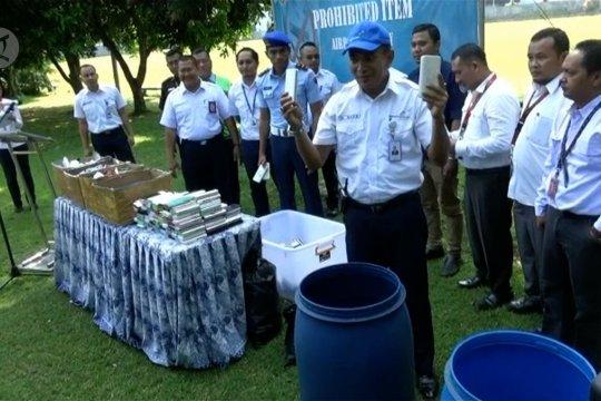 Angkasa Pura I musnahkan 2.799  barang sitaan di Bandara  Yogyakarta