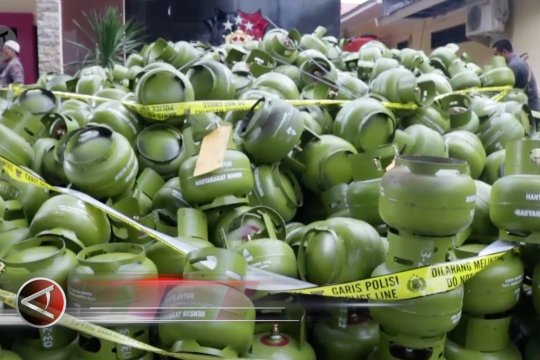 Polda Sulteng amankan 3.547 tabung elpiji 3 kg ilegal