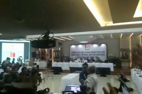 Suasana usai KPU sampaikan hasil final rekapitulasi nasional Pilpres 2019