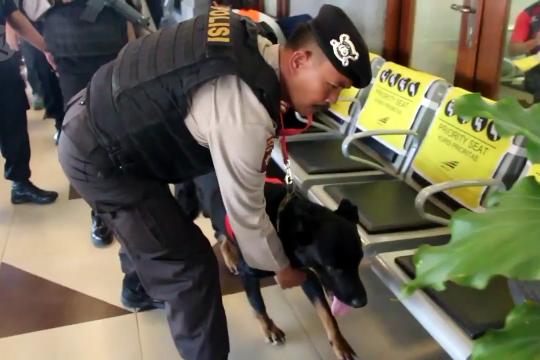 Anjing pelacak diterjunkan di stasiun-stasiun di Cirebon