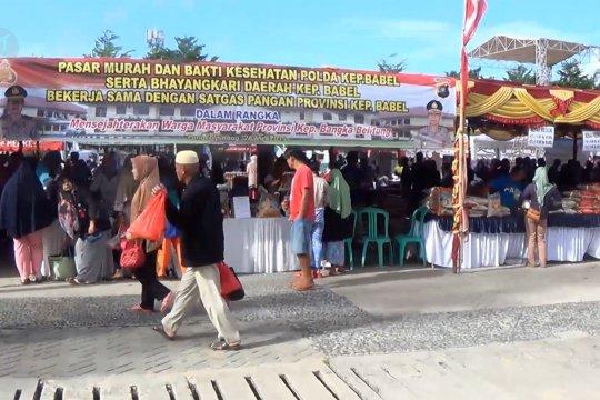 Pasar murah di alun-alun kota Pangkalpinang