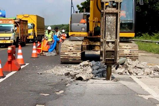 Perbaikan ruas KM 204 Tol Palikanci dikebut