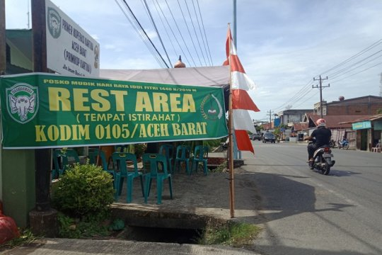 TNI siapkan rest area bagi pemudik di jalur pantai barat selatan Aceh