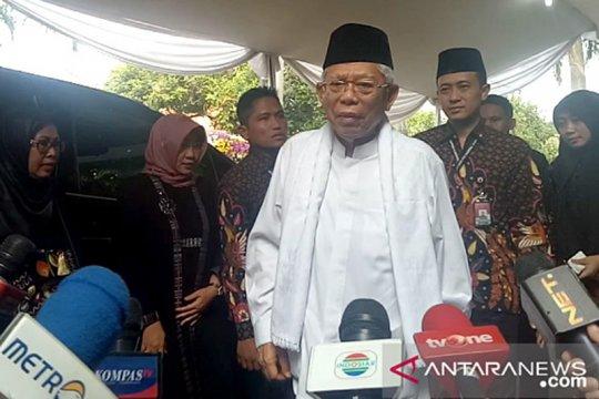 Maruf Amin sambangi Puri Cikeas melayat Ani Yudhoyono