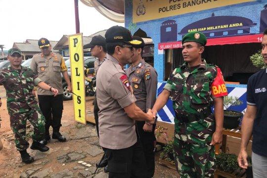 Kapolda Babel periksa Posko Pengamanan mudik di Kelapa