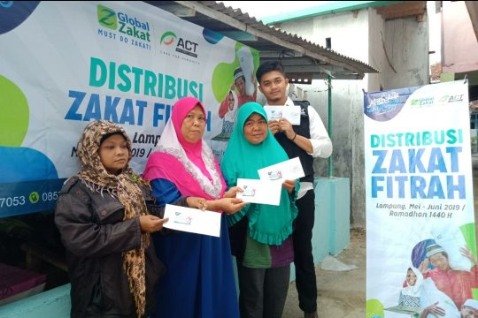 Global Zakat-ACT Lampung distribusikan zakat fitrah