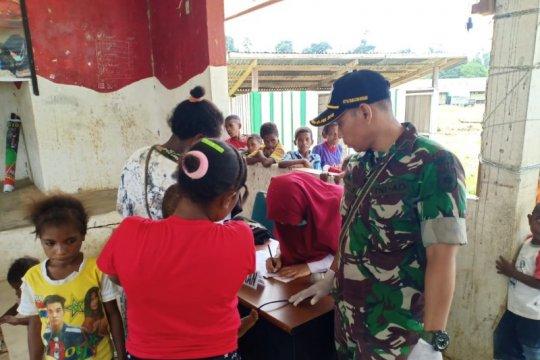 Penyuluhan kesehatan digelar satgas pamtas perbatasan di Papua