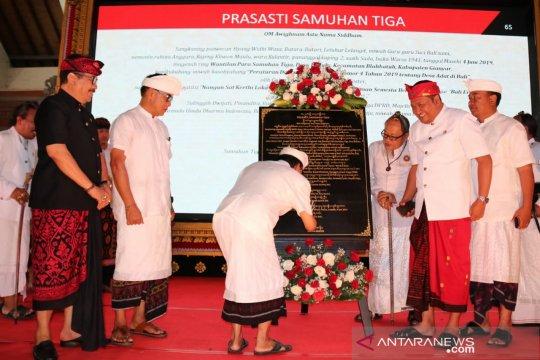 Gubernur Bali resmi canangkan pemberlakuan Perda Desa Adat